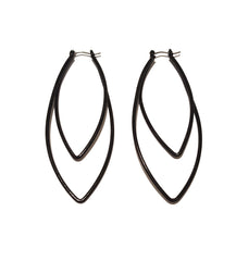 Black Metal Frame Earrings
