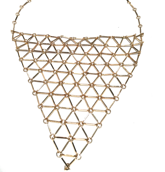 Triangular Chain Link Necklace