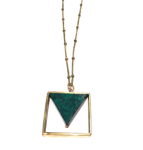 Geometric Pendant on Ball Chain