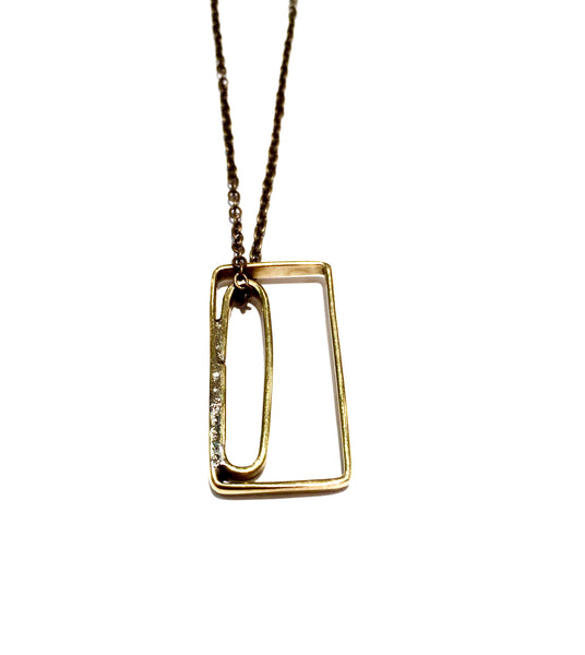 Abstract Lines Necklace