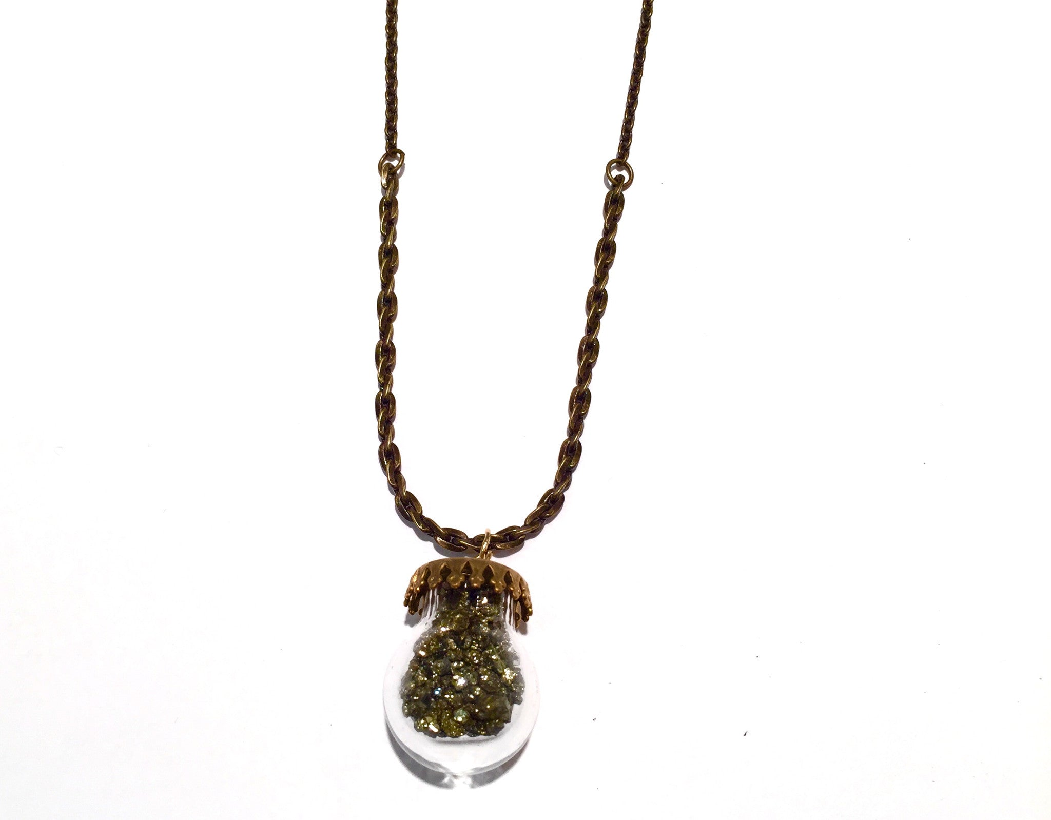 Pyrite Bulb Necklace