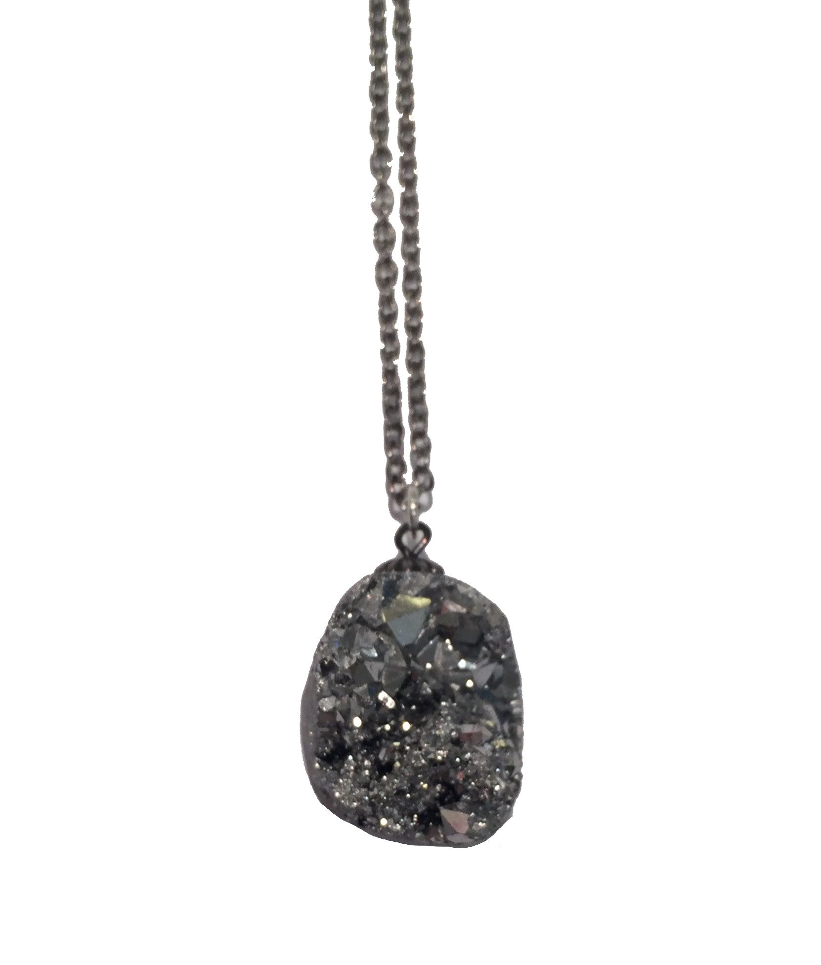 Silver Geode Necklace