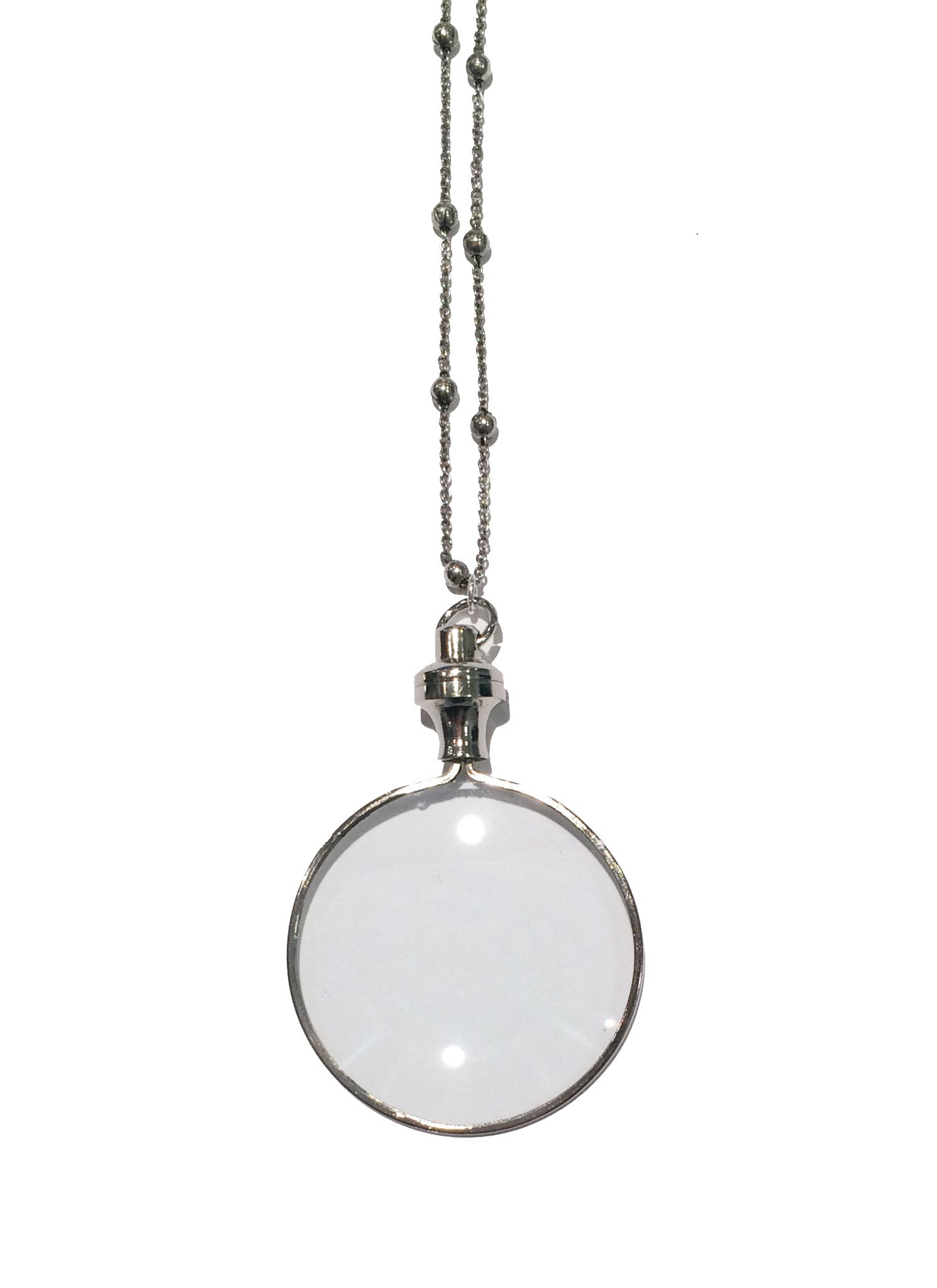 Silver Magnifying Glass Necklace