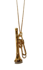 Trumpet Pendant Necklace