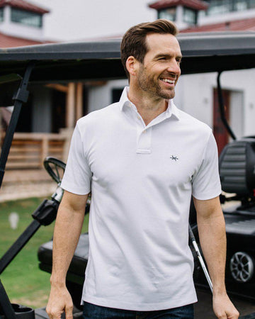 Performance Hybrid Polo - White/Green