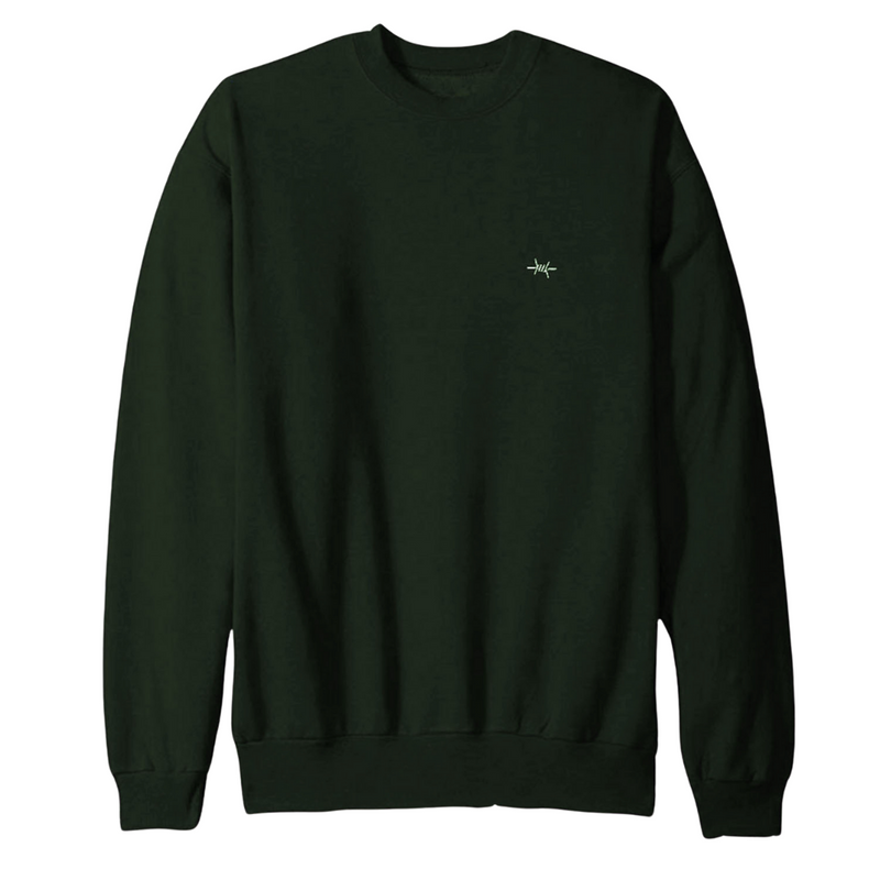 Throwback Sweatshirt - Hunter Green