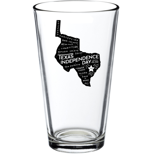 2021 Texas Independence Day Pint Glass