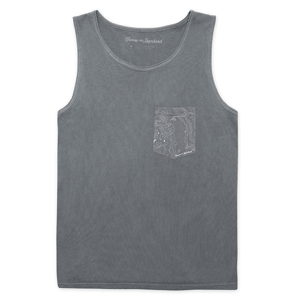 Topo Pocket Tank -  Mockingbird Gray