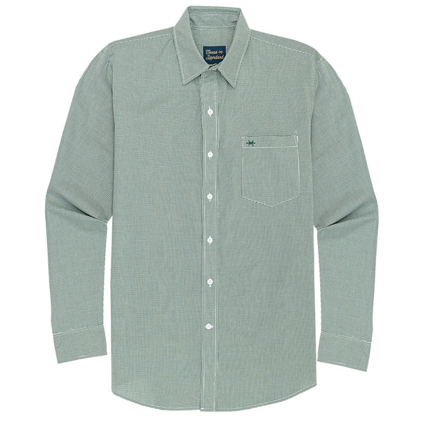 Gameday Sport Shirt - Green Microcheck