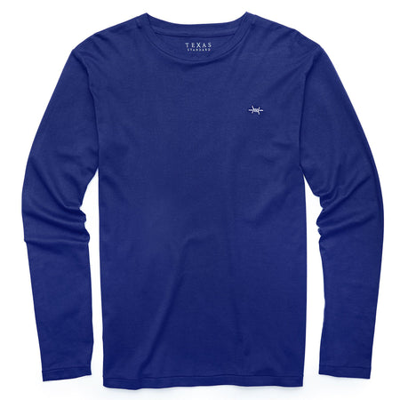 Standard Long-Sleeve Tee - Republic Navy - Texas Standard