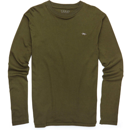 Standard Long-Sleeve Tee - Hunter Green - Texas Standard