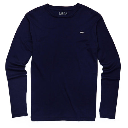 Standard Long-Sleeve Tee - Midnight Blue