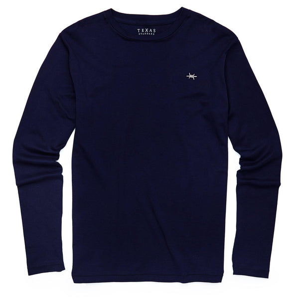 Standard Long-Sleeve Tee - Midnight Blue - Texas Standard