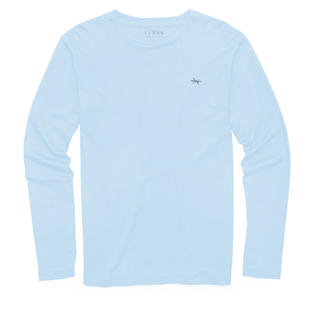 Standard Long-Sleeve Tee - Mineral Blue