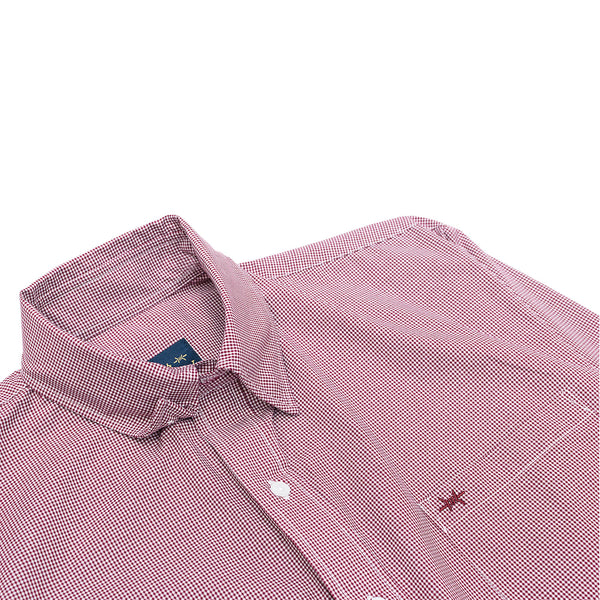 Gameday Sport Shirt - Maroon Microcheck