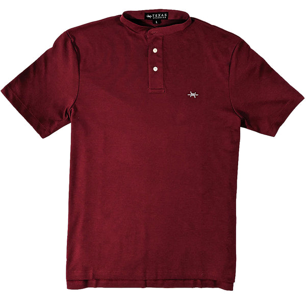 Band Collar Performance Polo - Maroon - Texas Standard