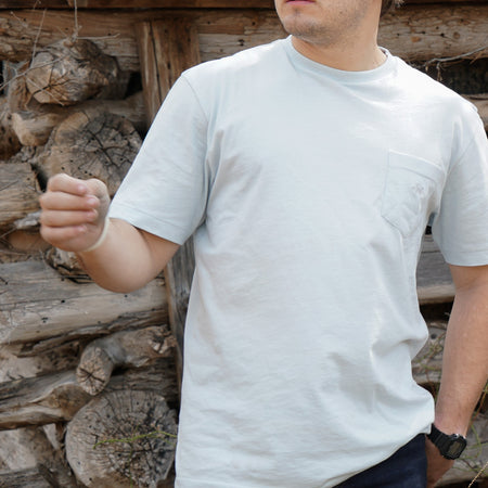 Standard Pocket Tee -  Mineral Blue