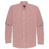 Gameday Sport Shirt - Burnt Orange Microcheck