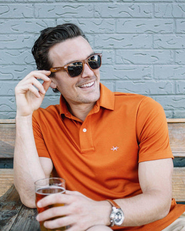 Performance Hybrid Polo - Burnt Orange Shirts