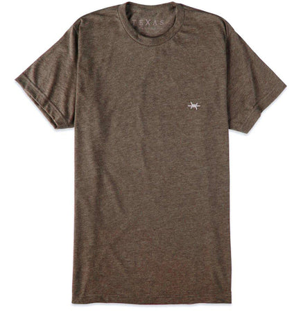 Performance Hybrid Tee - Heather Brown