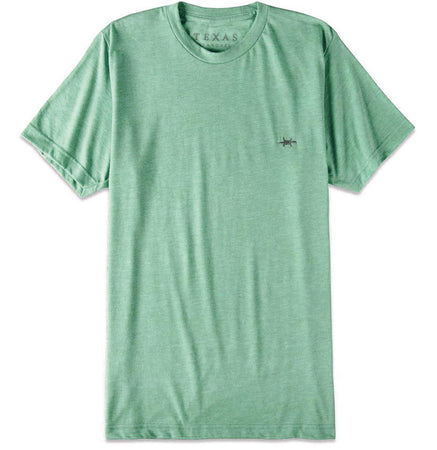 Performance Hybrid Tee - Heather Green