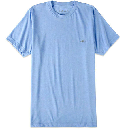 Performance Hybrid Tee - Heather Light Blue