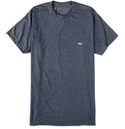 Performance Hybrid Tee - Heather Navy