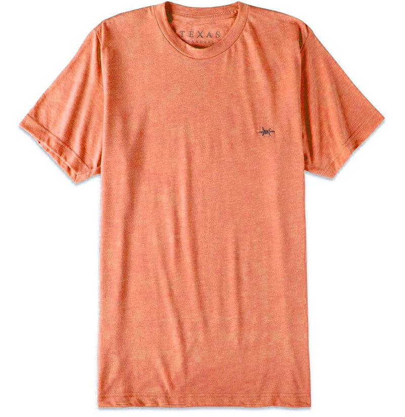 Performance Hybrid Tee - Heather Orange - Texas Standard