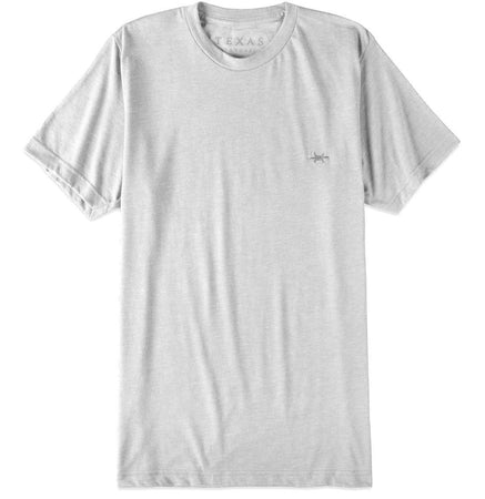 Performance Hybrid Tee - Heather White
