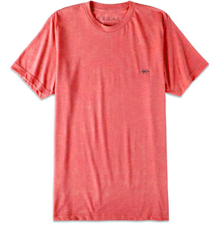 Performance Hybrid Tee - Heather Red - Texas Standard