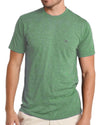 The Performance Hybrid Tee - Heather Green