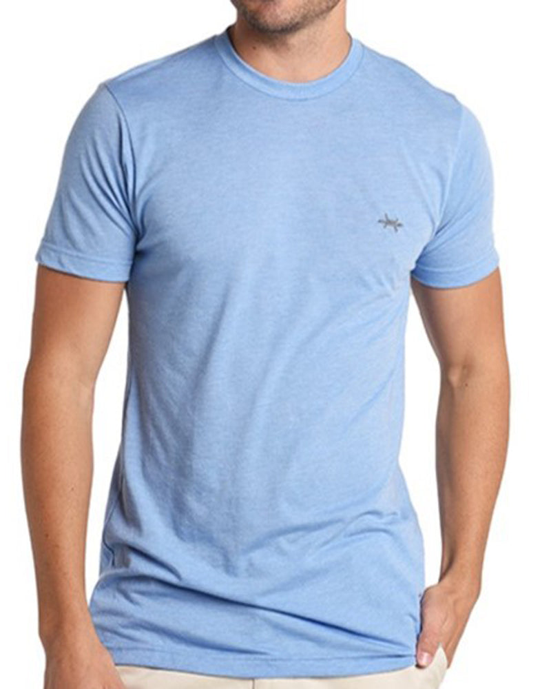 Performance Hybrid Tee - Heather Light Blue - Texas Standard