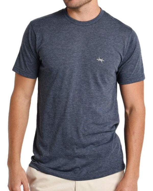 Performance Hybrid Tee - Heather Navy - Texas Standard