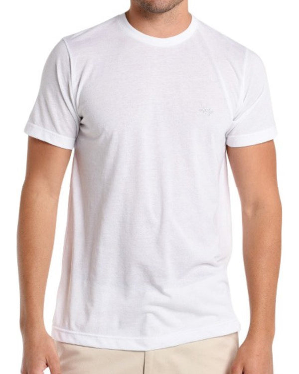 Performance Hybrid Tee - Heather White - Texas Standard