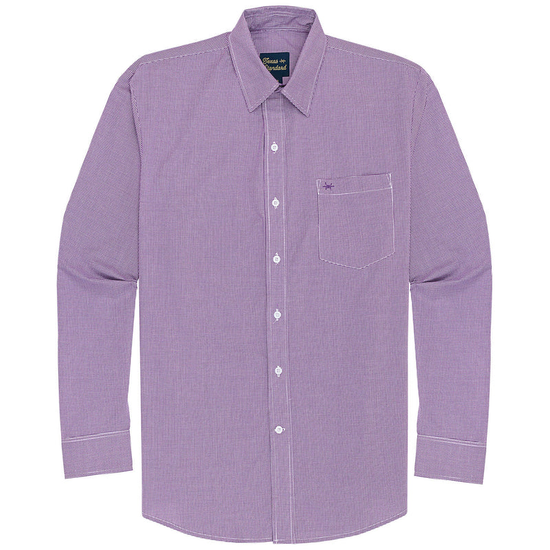 Gameday Sport Shirt - Purple Microcheck