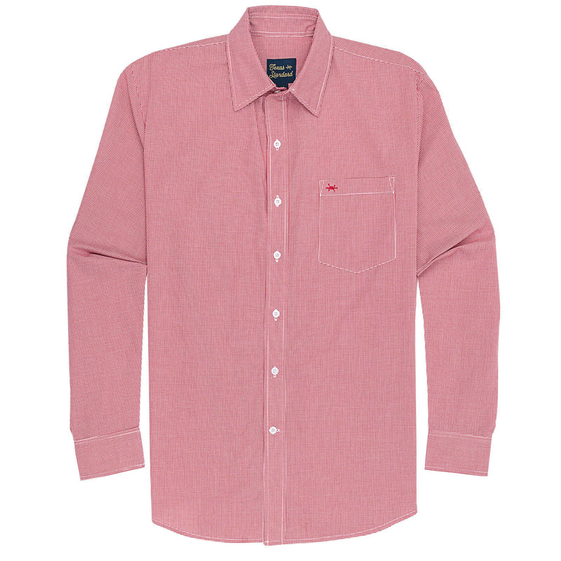 Gameday Sport Shirt - Red Microcheck