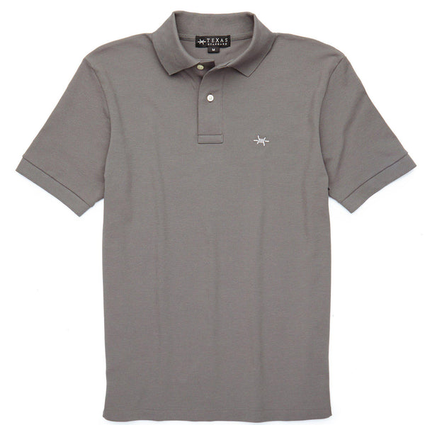 Standard Polo - Gunpowder Gray - Texas Standard