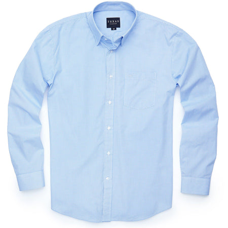 Standard Sport Shirt - Light Blue Microcheck