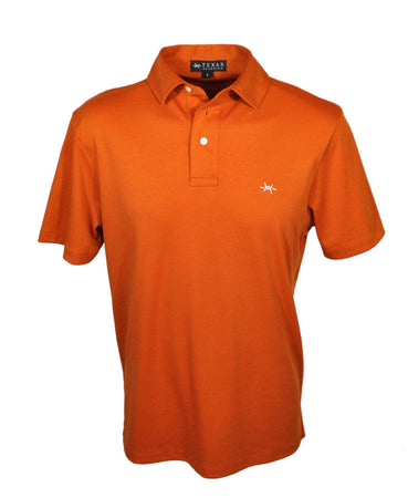 Performance Hybrid Polo - Burnt Orange - Texas Standard