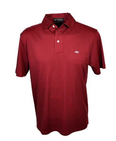 Performance Hybrid Polo - Maroon Shirts
