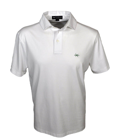 Performance Hybrid Polo - White/Green - Texas Standard