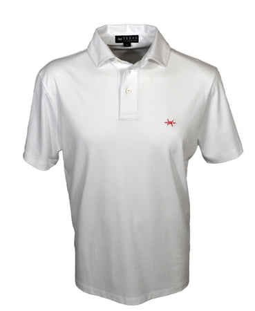 Performance Hybrid Polo - White/red Shirts