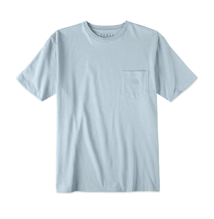 Youth Pocket Tee - Mineral Blue