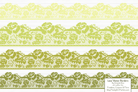 Lace Border Clipart in Bamboo by Amanda Ilkov - Mandy Art Market - 1