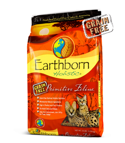 Earthborn Holistic Primitive Feline Grain-Free Dry Cat & Kitten Food