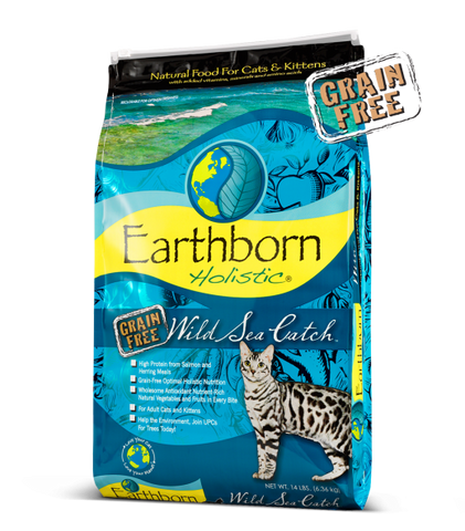 Earthborn Holistic Wild Sea Catch Grain-Free Dry Cat & Kitten Food