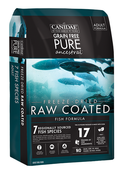Canidae Grain Free PURE Ancestral Fish Formula Freeze-Dried Raw Coated Dry Dog Food