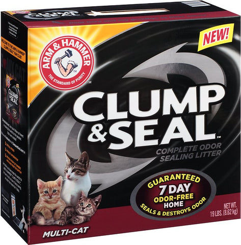 Arm & Hammer Clump & Seal Multi-Cat Litter- 19lb