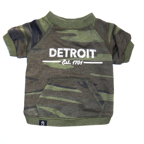 The Detroit Dog Camo Pullover