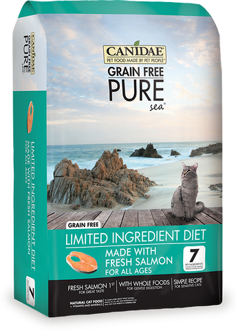 Canidae Grain-Free Limited Ingredient Diet PURE Sea with Salmon Limited Ingredient Diet Dry Cat Food